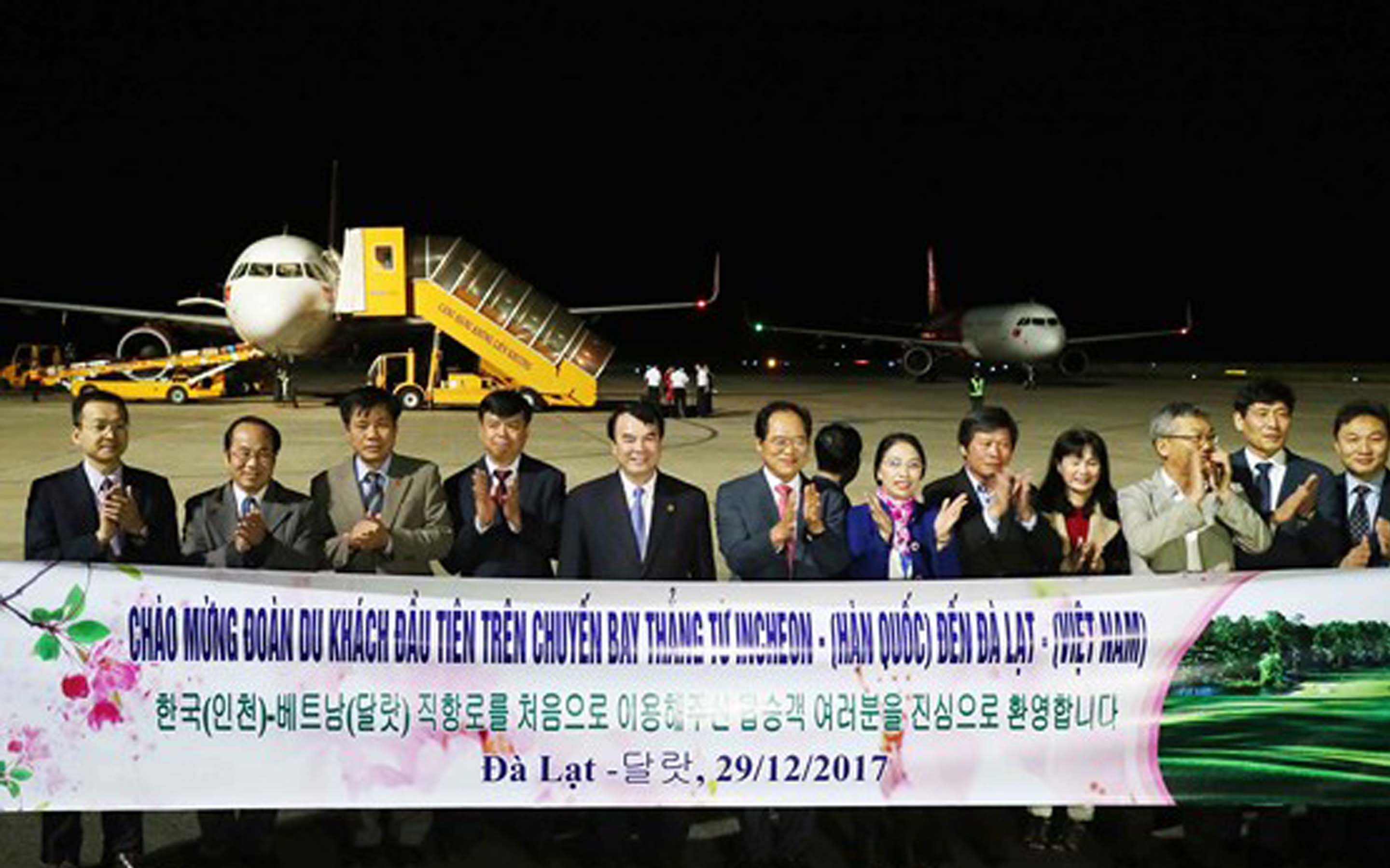 The opening ceremony of Incheon - Da Lat flight route