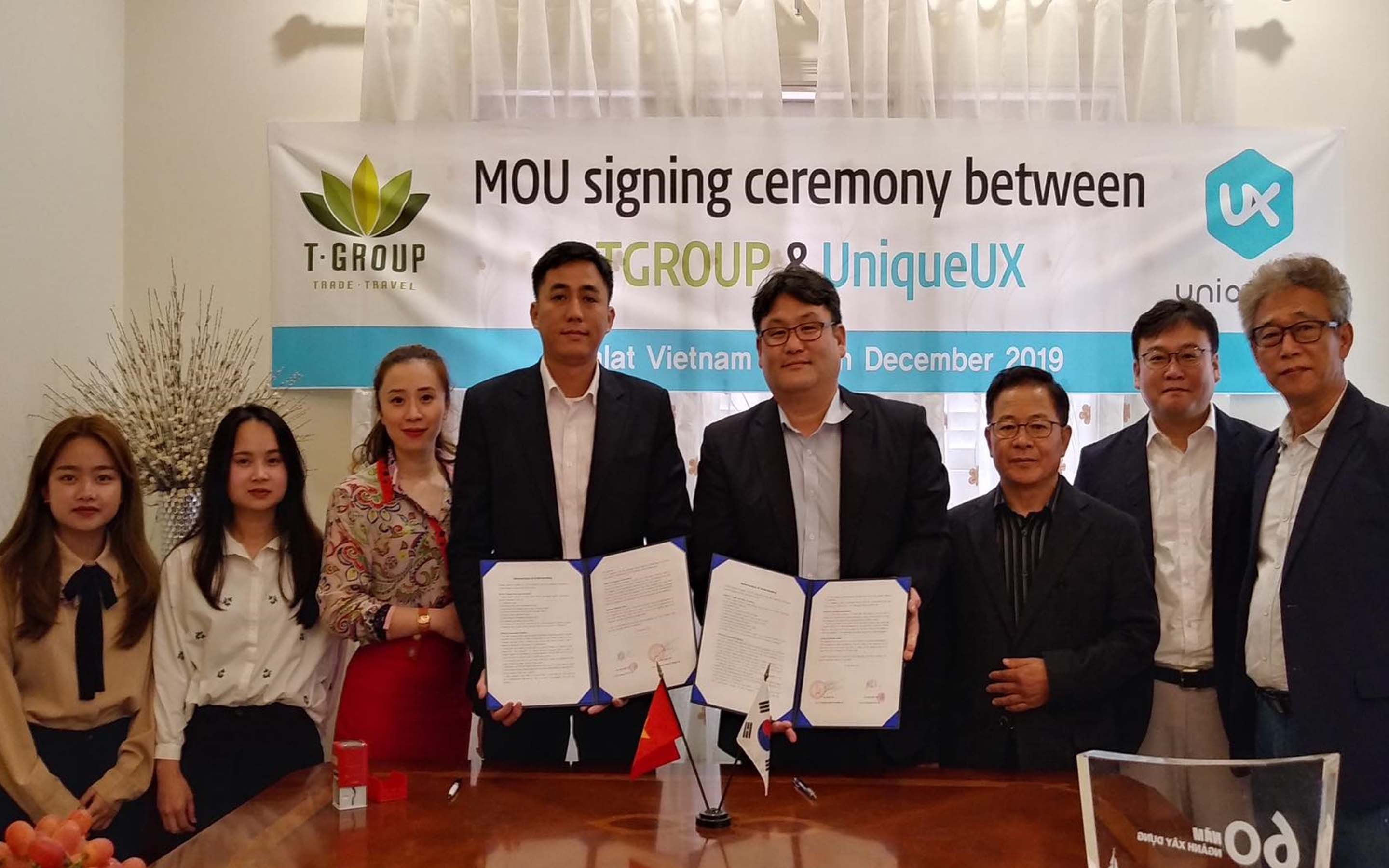 MOU signing ceremony between Tgroup & UniqueUX
