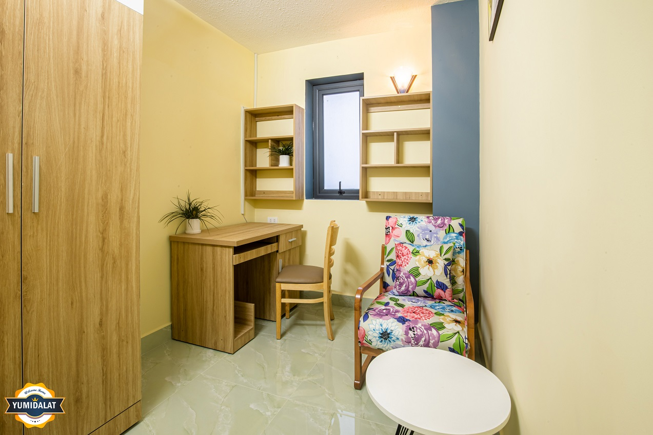 Apartment 1 bedroom, 1 working room [Floor 2,3 - Balcony]